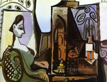 cubism works - Jacqueline in Studio 1956 Cubism