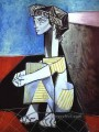Jacqueline with Crossed Hands 1954 Cubism