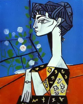 Cubism Painting - Jacqueline with Flowers 1954 Cubism