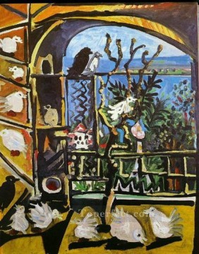 L atelier Les pigeons I 1957 Cubism Oil Paintings