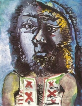 L homme au gilet 1971 Cubism Oil Paintings