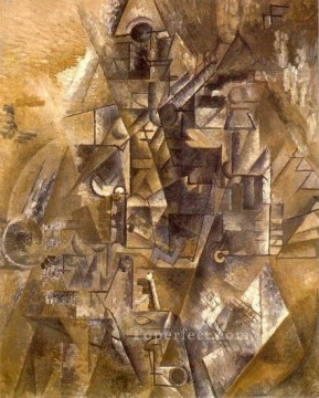 La clarinette 1911 Cubism Oil Paintings