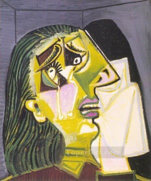 La femme qui pleure 10 1937 Cubism Oil Paintings