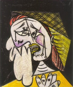 La femme qui pleure au foulard 4 1937 Cubism Oil Paintings