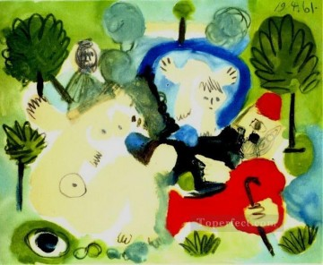 Famous Abstract Painting - Le dejeuner sur l herbe Manet 1 1961 Cubism