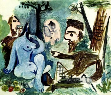 Le dejeuner sur l herbe Manet 4 1961 Cubism Oil Paintings
