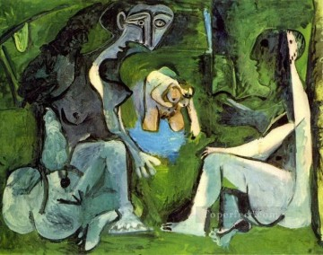 Le dejeuner sur l herbe Manet 8 1961 Cubism Oil Paintings