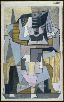 Le gueridon 1919 Cubism Oil Paintings
