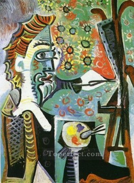 Le peintre III 1963 Cubism Oil Paintings