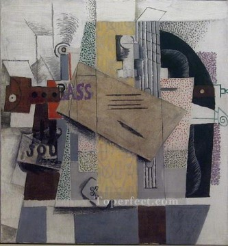 Le violon 1914 Cubism Oil Paintings