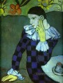 Leaning Harlequin 1901 Cubism