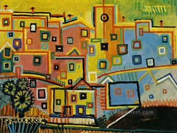Maisons 1937 Cubism Oil Paintings