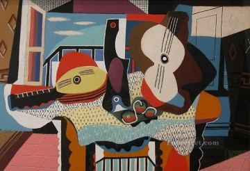 Mandoline et guitare 1924 Cubism Oil Paintings