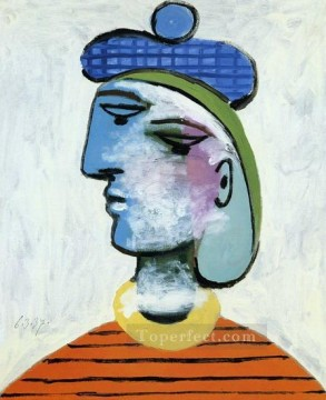 Marie Therese au beret bleu Portrait de femme 1937 Cubism Oil Paintings