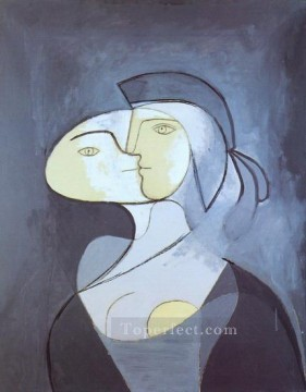 Marie Therese face et profil 1931 Cubism Oil Paintings