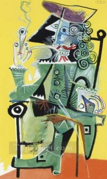 Mousquetaire a la pipe 3 1968 Cubism Oil Paintings