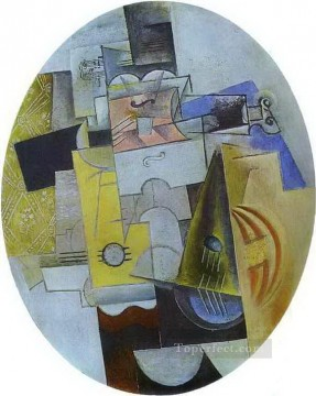 Musical Instruments 1912 Cubism Oil Paintings