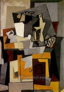 Cubism Painting - Nature Morte with a key 1920 Cubist