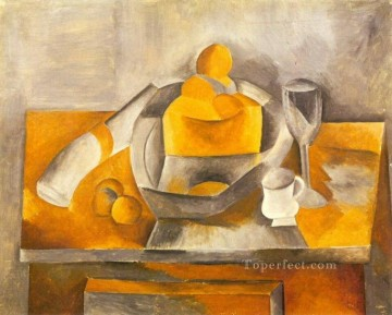 Nature morte a la brioche 1909 Cubism Oil Paintings