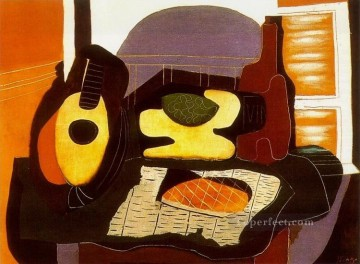 Nature morte a la galette 1924 Cubism Oil Paintings