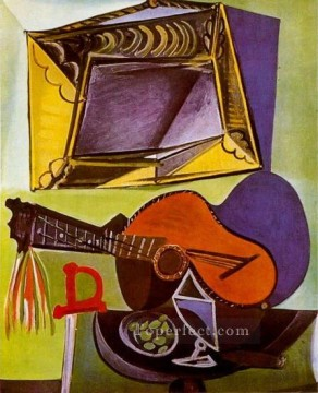 1918 Painting - Nature morte a la guitare 1918 Cubism