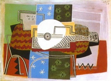 Nature morte a la mandoline 1924 Cubism Oil Paintings