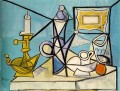 Nature morte au bougeoir R 1 1944 Cubist