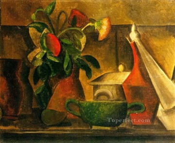 bouquet art - Nature morte au bouquet de fleurs 1908 Cubist
