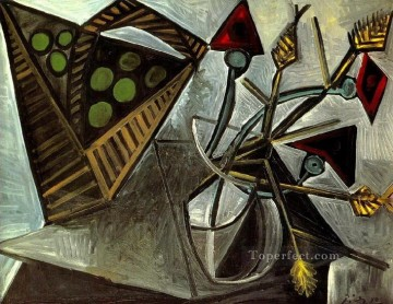 Nature morte au panier de fruits 1942 Cubist Oil Paintings