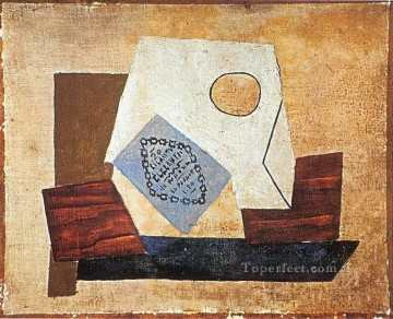 Nature Painting - Nature morte au paquet de cigarettes 1921 Cubist