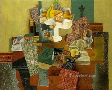 Nature morte aux fleurs de lis 1914 Cubist Oil Paintings