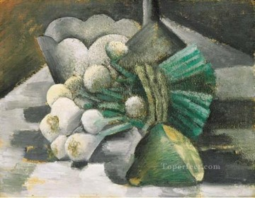 Nature morte aux oignons 1908 Cubist Oil Paintings