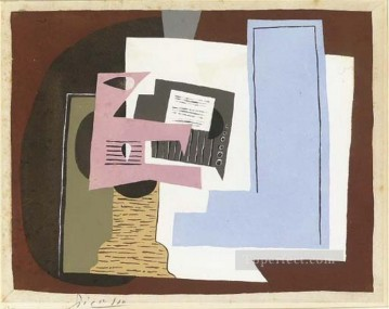 Famous Abstract Painting - Nature morte avec guitare et partition 1920 Cubist