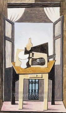 Nature morte devant une fenetre 1919 Cubist Oil Paintings
