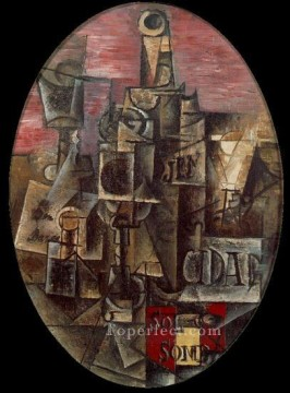 Nature morte espagnole 1912 Cubist Oil Paintings