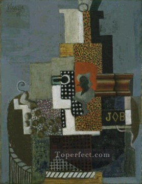 Nature Painting - Nature morte job 1916 Cubist