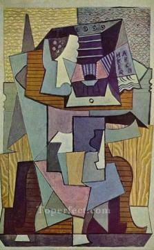 Nature morte sur un gueridon La table 1919 Cubist Oil Paintings