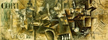 Cubism Painting - Nature morte sur un piano CORT 1911 Cubist
