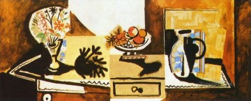 Nature morte sur une commode 1955 Cubist Oil Paintings