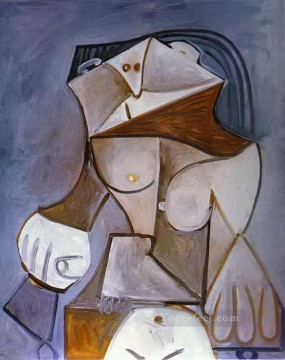 Chair Painting - Nude in an Armchair 1959 Cubist