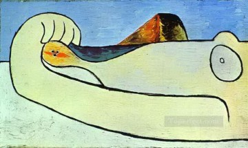 Nude on a Beach 2 1929 Cubist Oil Paintings
