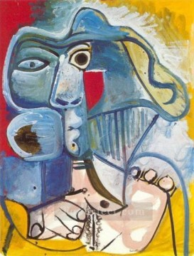 Famous Abstract Painting - Nue assise au chapeau 1971 Cubist