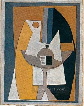 Partition sur un gueridon 1920 Cubist Oil Paintings