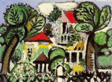 Paysage 1 1933 Cubist Oil Paintings