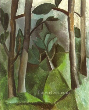 Paysage 1908 Cubist Oil Paintings