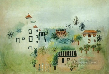 Paysage 1920 Cubist Oil Paintings