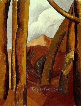Famous Abstract Painting - Paysage 5 1908 Cubist