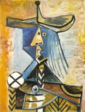 Personnage 1 1971 Cubist Oil Paintings