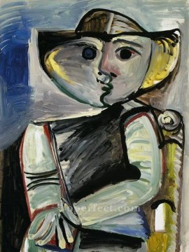 Personnage Femme assise 1971 Cubist Oil Paintings