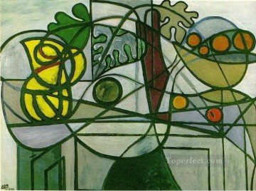 Pichet coupe de fruits et feuillage 1931 Cubist Oil Paintings